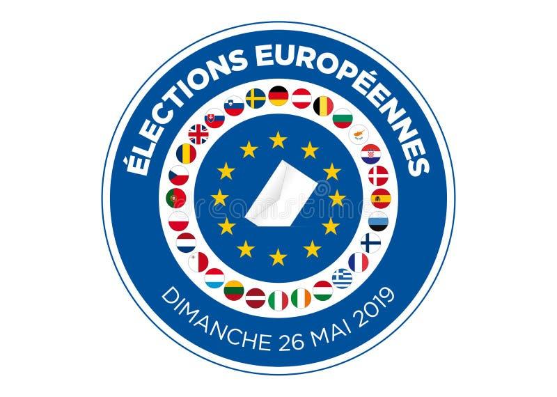 Elezione del Parlamento Europeo 2019 royalty illustrazione gratis