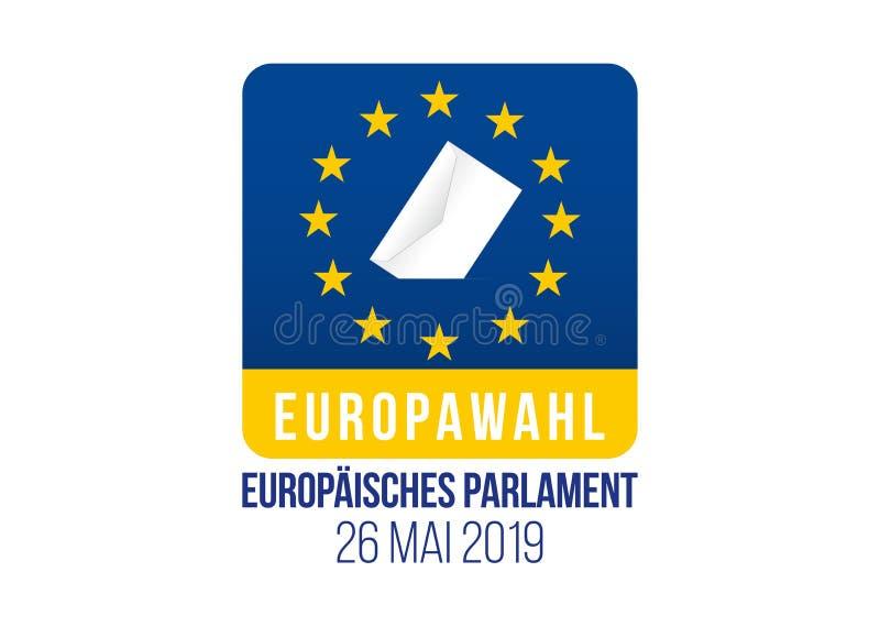Elezione del Parlamento Europeo 2019 illustrazione di stock