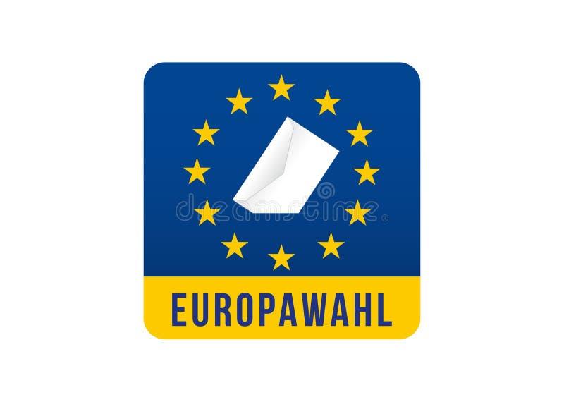 Elezione del Parlamento Europeo 2019 illustrazione vettoriale