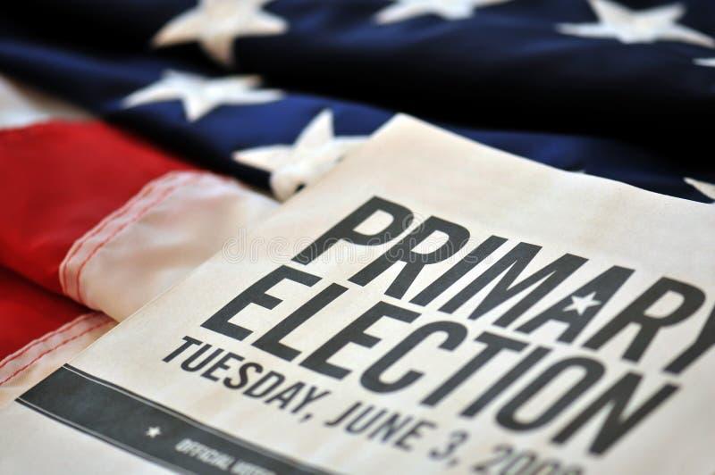 Elezione primaria immagini stock