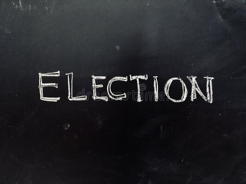 Elezione scritta a mano sulla lavagna immagini stock libere da diritti