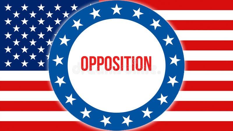 Elezione su un fondo di U.S.A., di opposizione rappresentazione 3D Bandiera degli Stati Uniti d'America che ondeggia nel vento Vo royalty illustrazione gratis