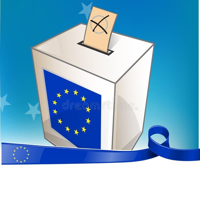 Elezioni europee con la bandiera del nastro royalty illustrazione gratis