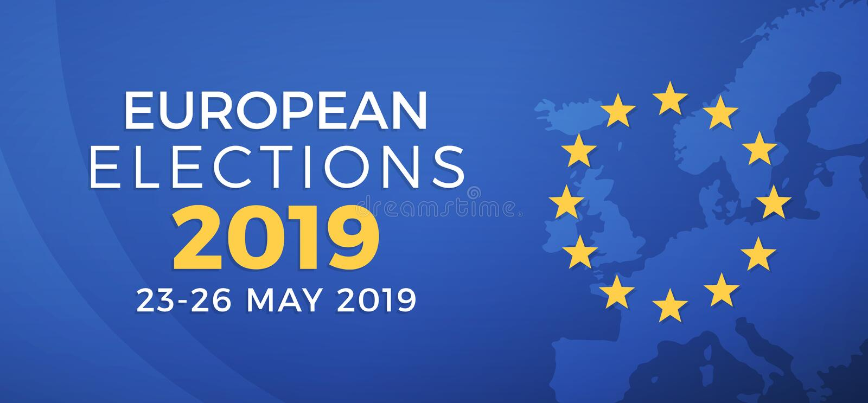 Elezioni europee 2019 illustrazione vettoriale