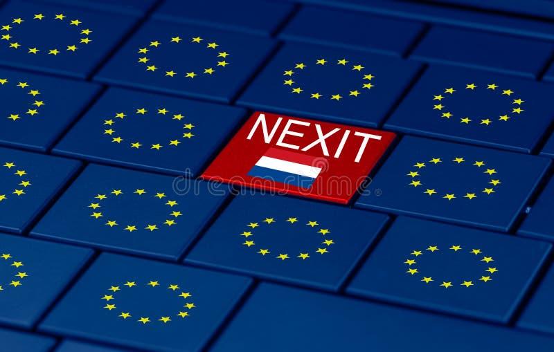Elezioni olandesi, Eu e una tastiera del pc illustrazione di stock