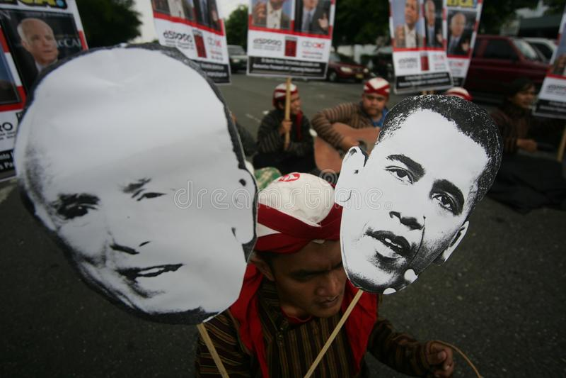 Elezioni presidenziali di McCain e di Obama fotografia stock