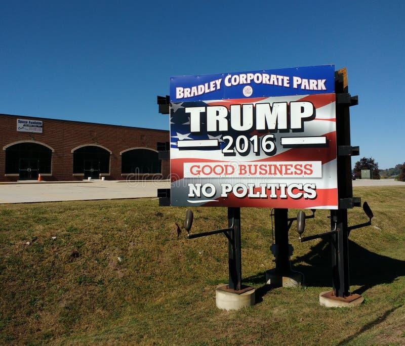 Elezioni presidenziali di U.S.A., Trump 2016, buon affare, nessuna politica immagine stock libera da diritti