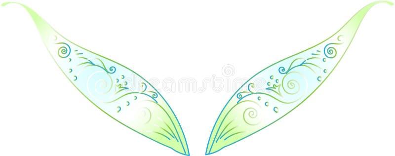 Elfów skrzydła ilustracja wektor