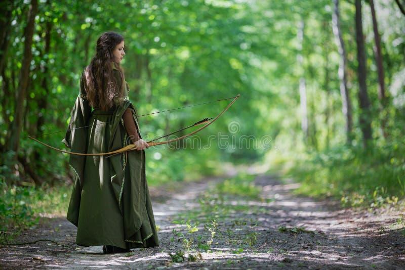 Elf łuczniczka od za zdjęcie stock