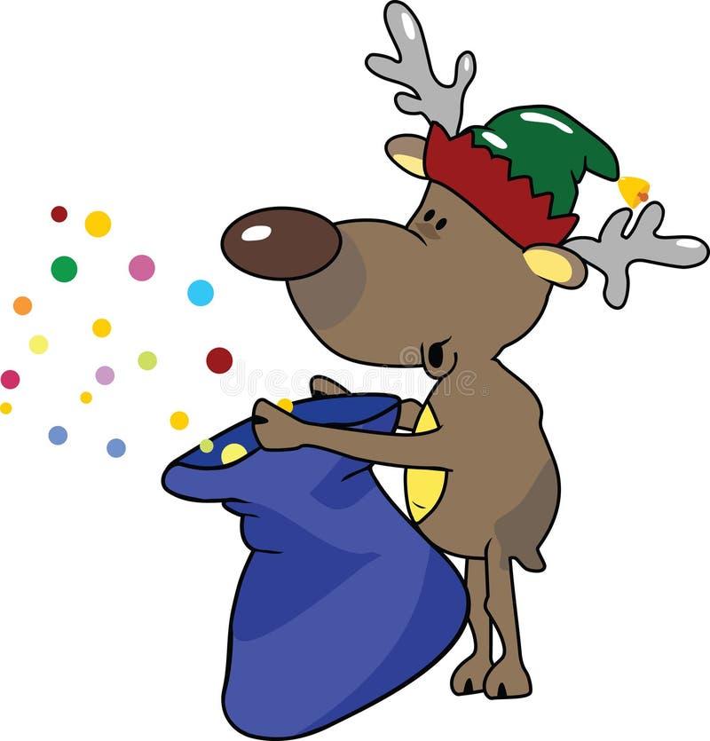 Elf. Vector illustration of an reindeer elf vector illustration