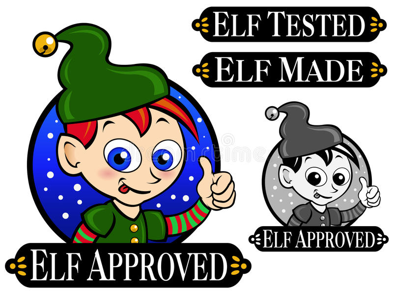 Download Elf Approved Seal stock vector. Image of night, claus - 16967840