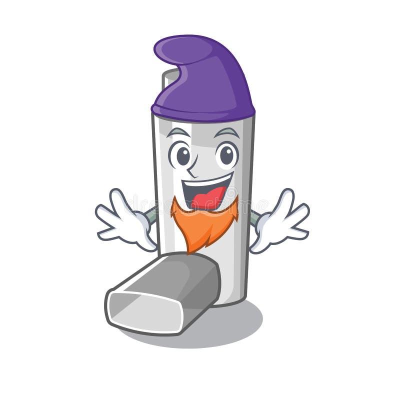 Elf asthma inhaler in the cartoon shape. Vector illustration stock illustration