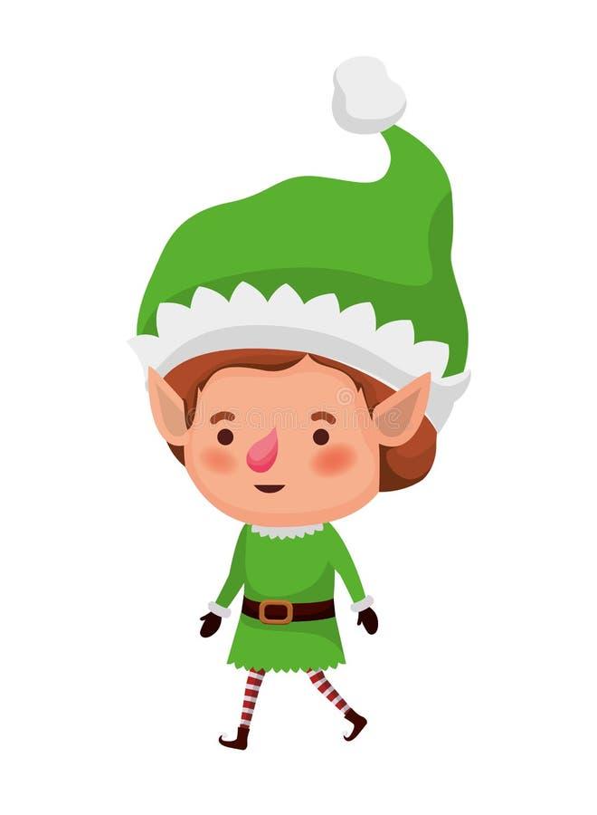 Elf bewegend avatar karakter royalty-vrije illustratie