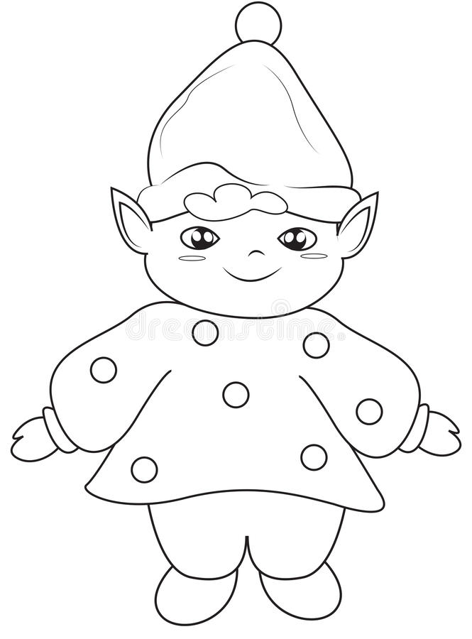 Elf coloring page stock illustration. Illustration of drawing - 51223776