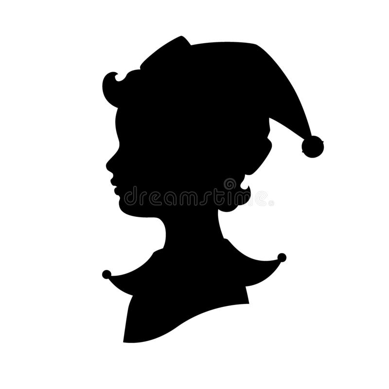 Elf głowy profilu sylwetka ilustracja wektor
