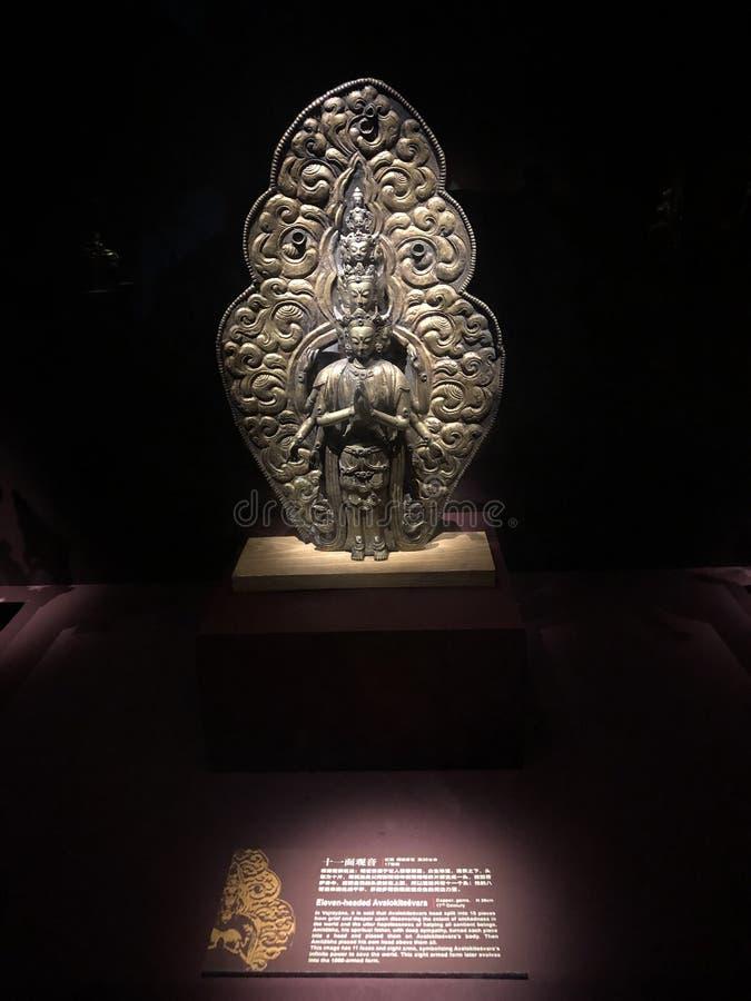 Elf-geleide Avalokitesvara op Mogao-Grotten Toneelgebied van Dunhuang, China royalty-vrije stock foto