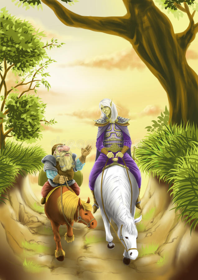 Elf grand illustration stock