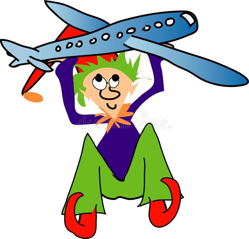 Download Elf met vliegtuig stock illustratie. Afbeelding bestaande uit spel - 42610
