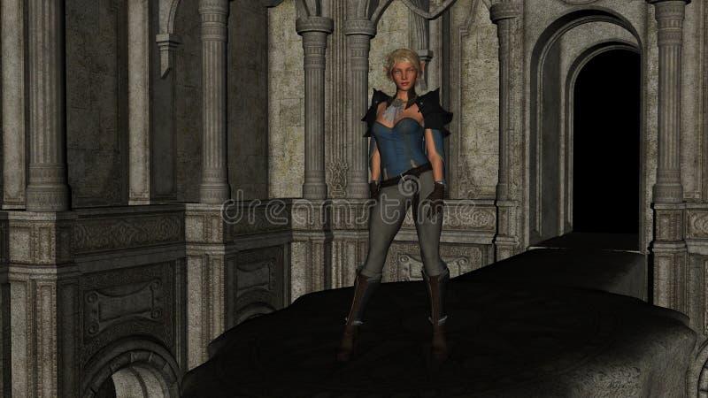 Elf Mooie dame stock afbeelding