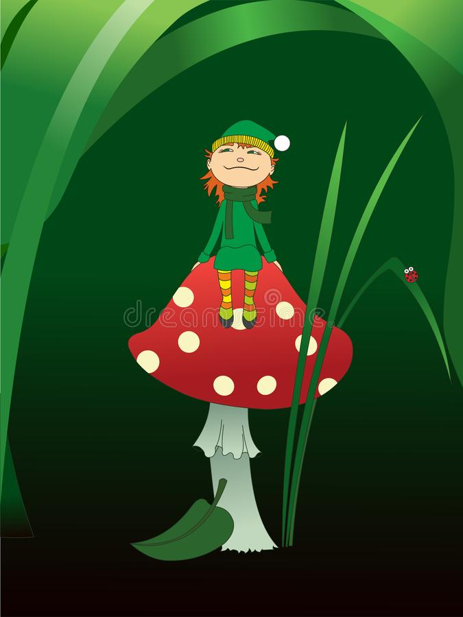 Free Elf On A Mushroom Royalty Free Stock Photos - 162518838
