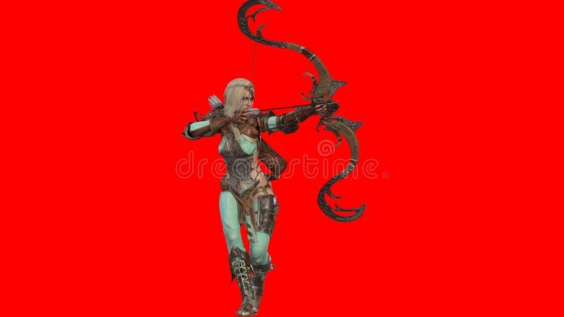 Elf Piękna kobieta 3d odpłaca się royalty ilustracja