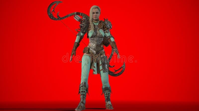 Elf Piękna kobieta 3d odpłaca się ilustracja wektor