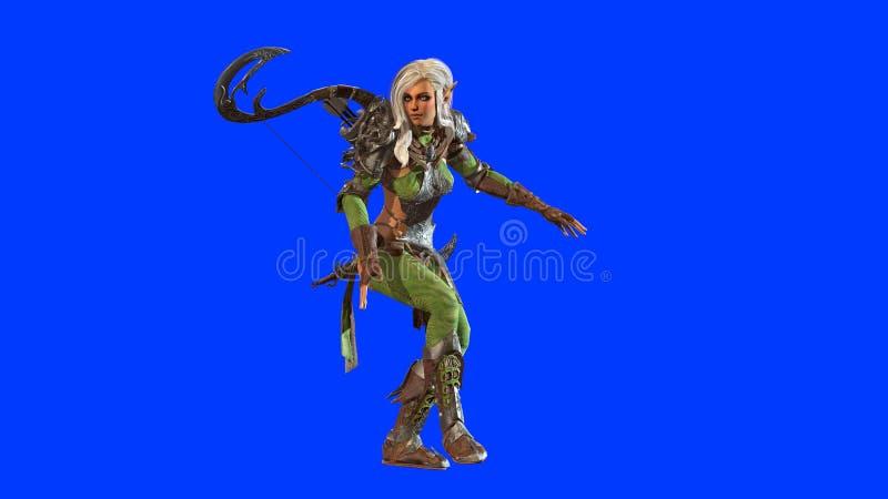 Elf Piękna kobieta 3d odpłaca się ilustracji