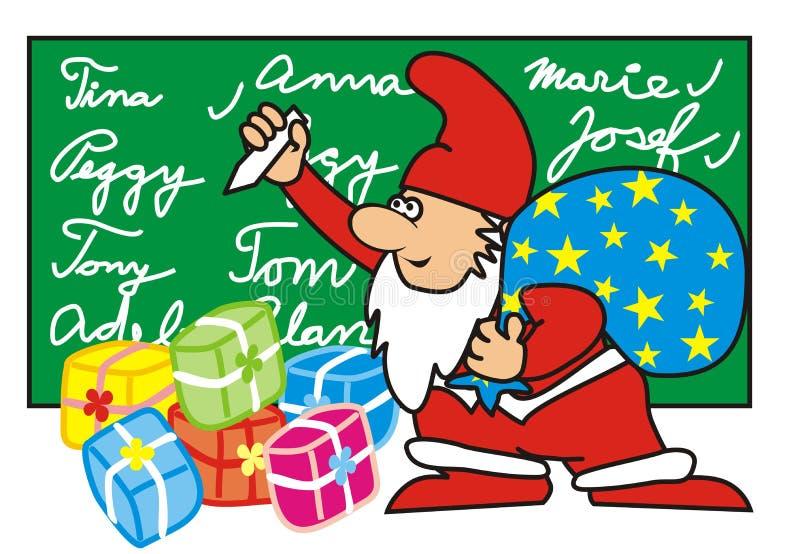 Elf - Santa Claus vector illustratie
