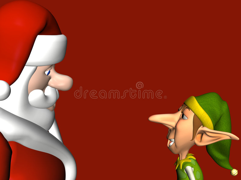 elf spełnia Mikołaja ilustracja wektor