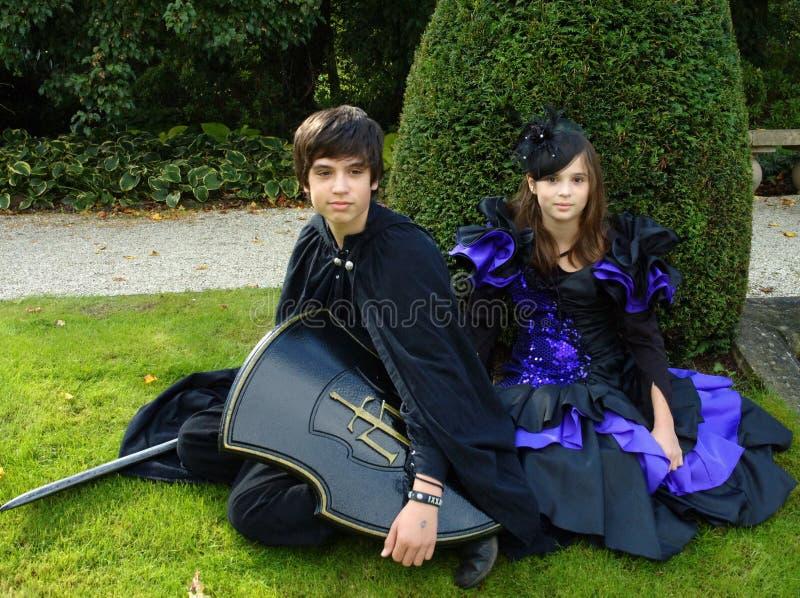 Elf und Prinzessin stockbild