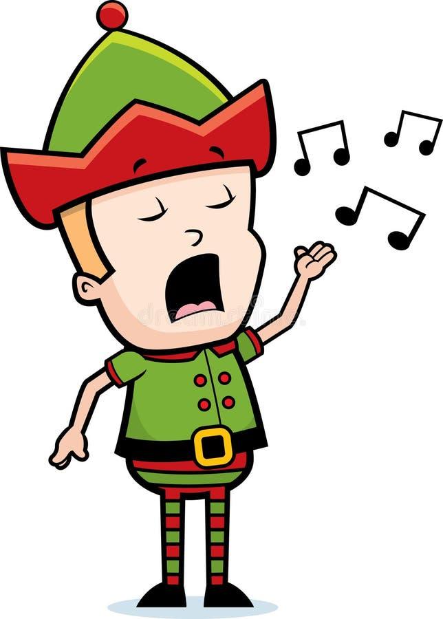 elfa śpiew royalty ilustracja