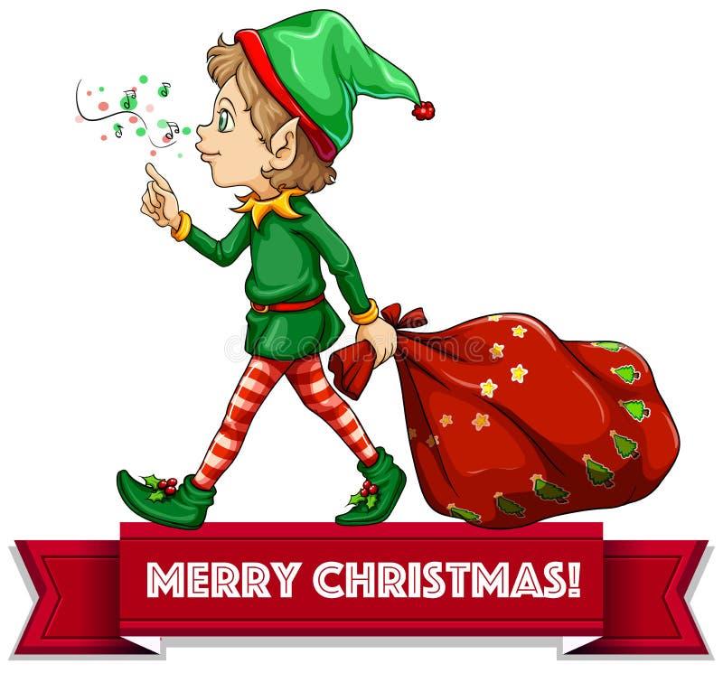 Elfe de Noël illustration stock