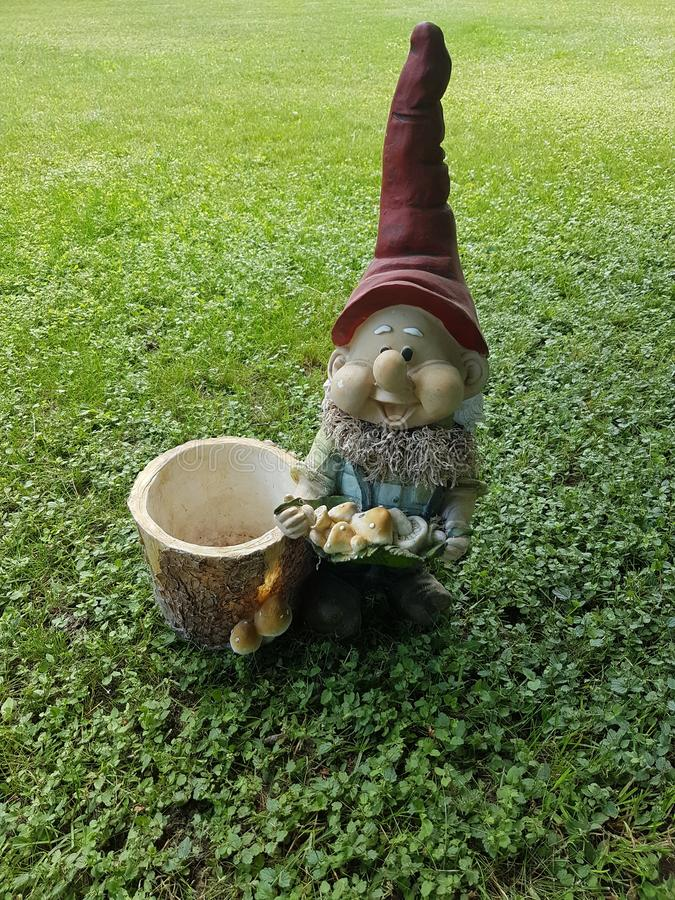 Elfe sur pelouse verte photos stock