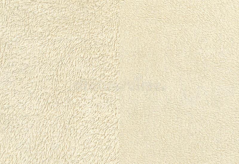 Elfenben Terry Cloth Towel Fabric royaltyfri fotografi