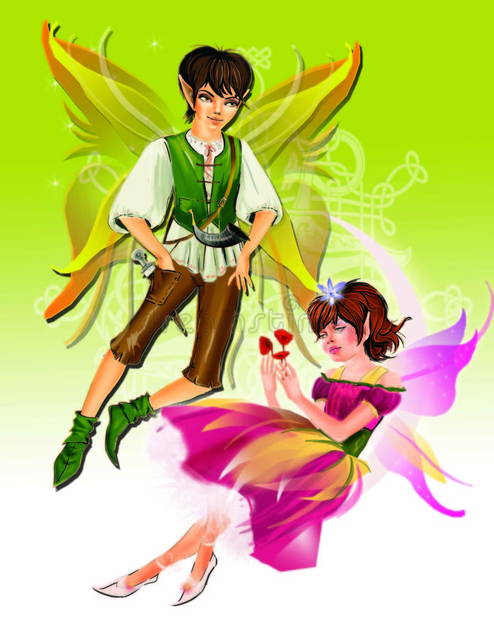 Download Elfes stock illustration. Image of couple, love, green - 6151445