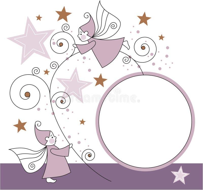 Elfi con le stelle illustrazione di stock