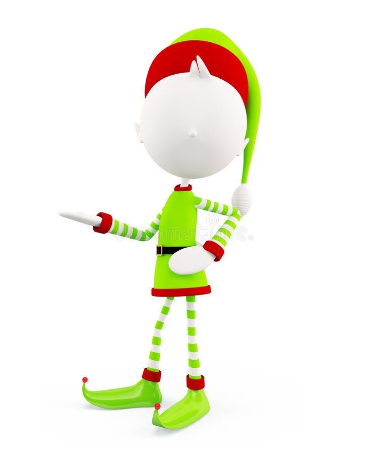 elfi 3d per il Natale illustrazione vettoriale