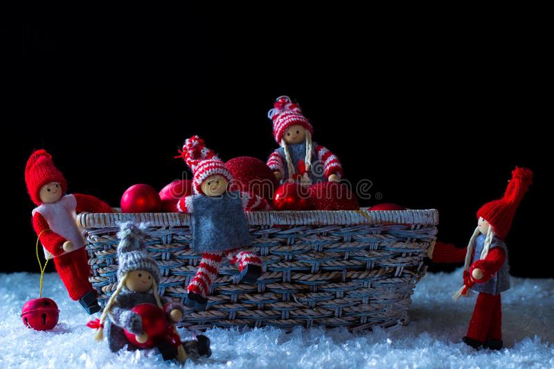 Elfi di Natale immagini stock libere da diritti
