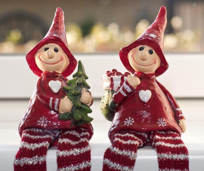 Elfi di natale fotografie stock libere da diritti