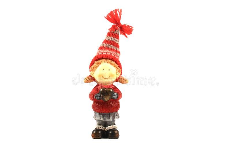 Elfo del giocattolo di Natale immagini stock