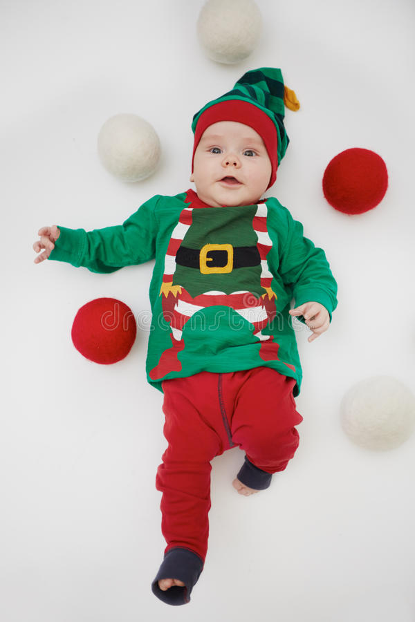 Elfo di Natale fotografie stock