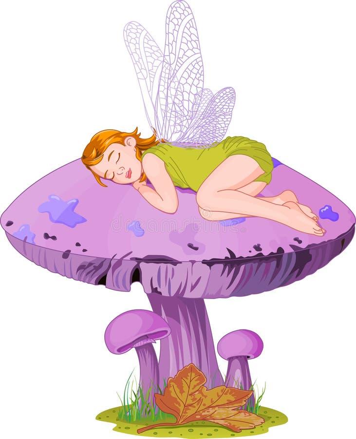 Elfo di sonno illustrazione di stock