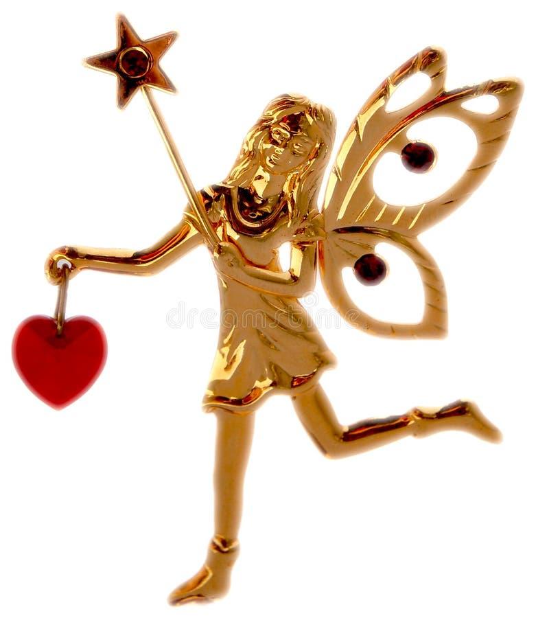 Elfo magico dorato fotografie stock libere da diritti
