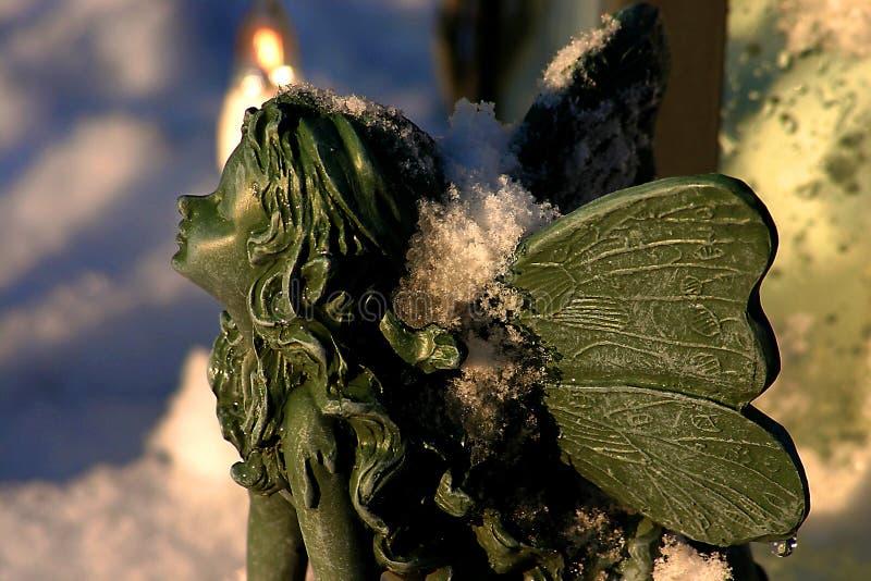 Elfo in neve immagini stock libere da diritti