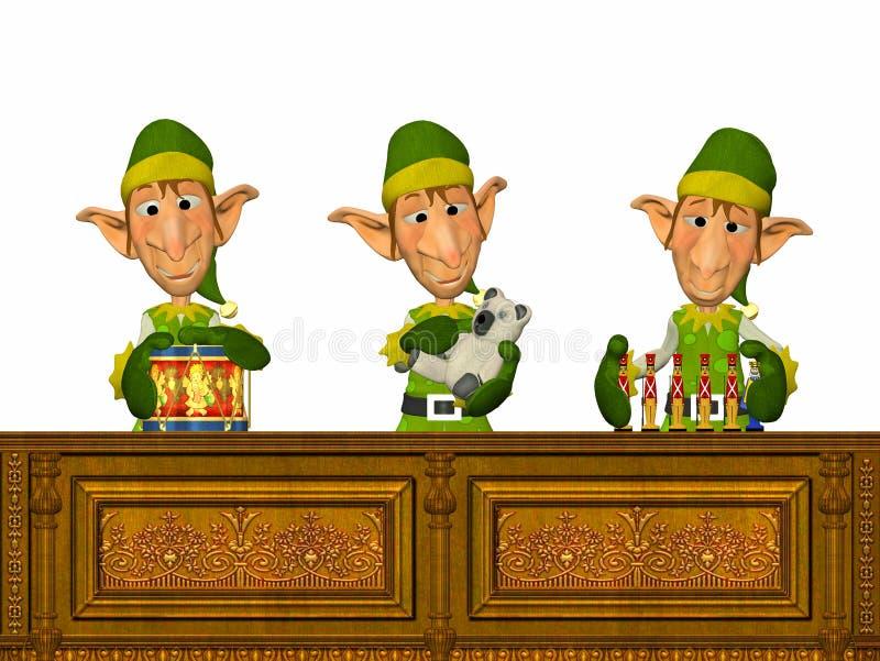 elfs工作 皇族释放例证