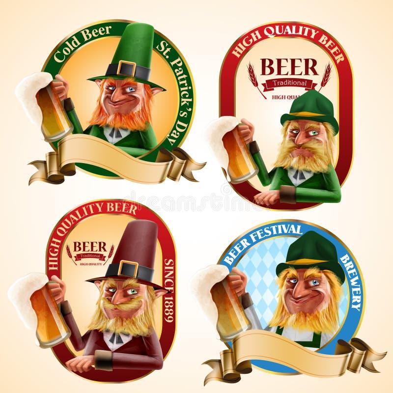 Elfs de bière illustration stock