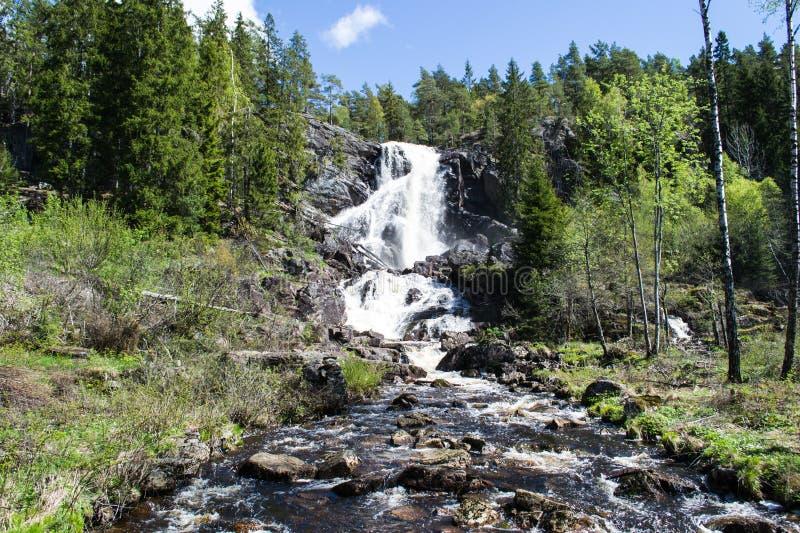 Elgafossen (Elga Watefall) fotografie stock libere da diritti