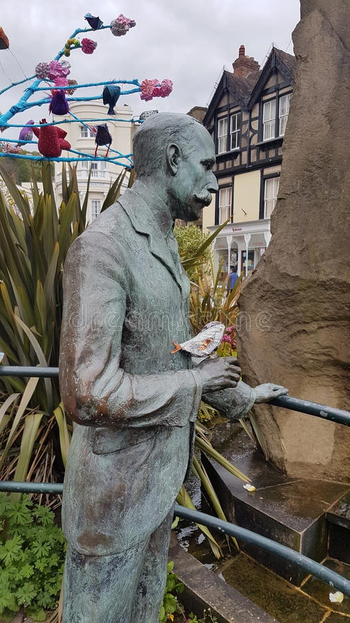 Elgarstandbeeld Malvern stock foto's
