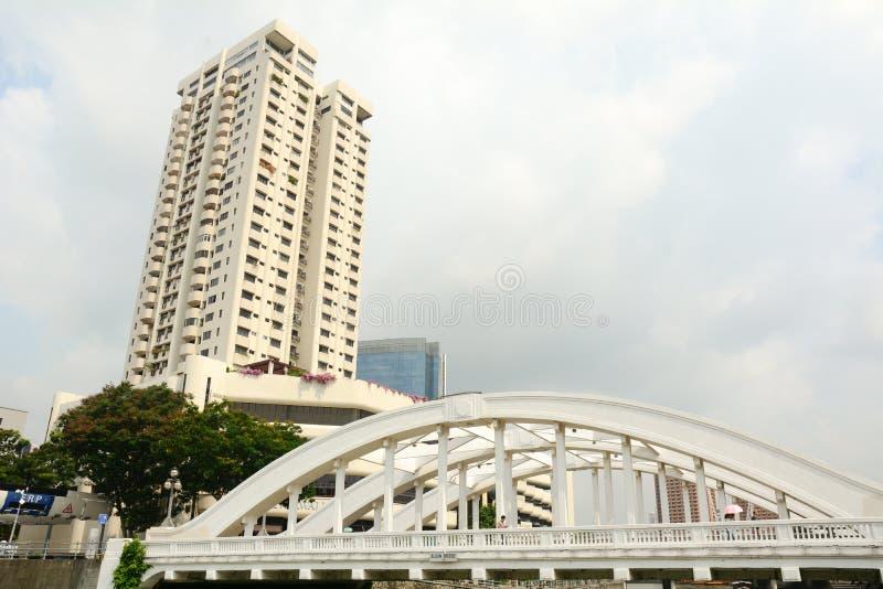 Elgin-Brücke, über dem Singapur-Fluss lizenzfreie stockbilder