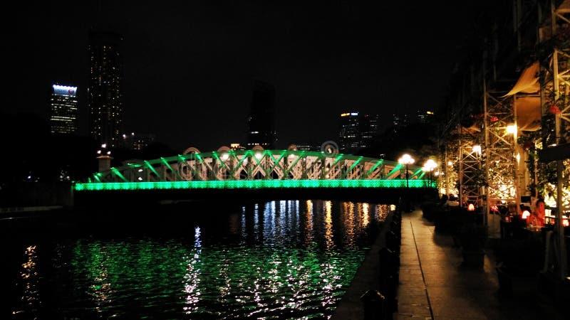 Elgin Bridge bij nacht stock afbeelding